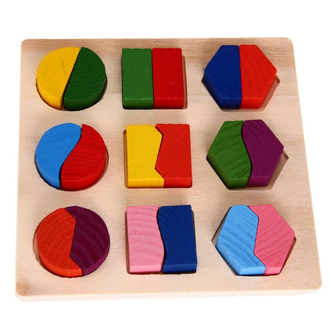 Image of Baby Wooden Geometry Educational Toys