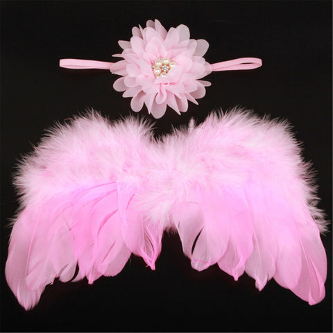 Baby girl's Angel Wings and Headband - [2 Variants]