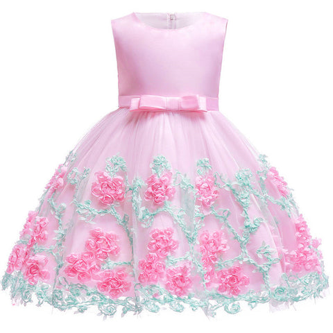 Baby Girl Flower Lace Princess Dress