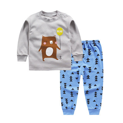 Long-sleeved Sweatshirt Clothing Set - [4 Variants]