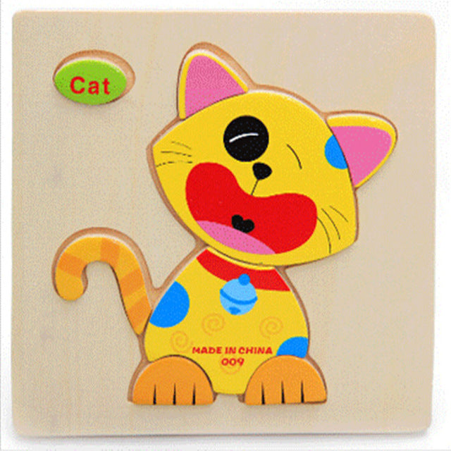 Wooden Educational Jigsaw Animal Puzzle Toys