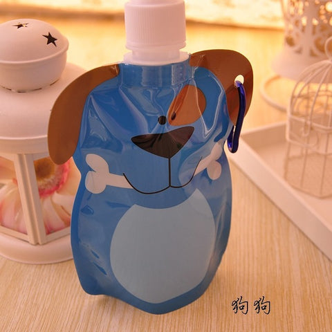 Image of 360 ml Eco-Friendly Foldable Cartoon Water Bag - [8 Variants]