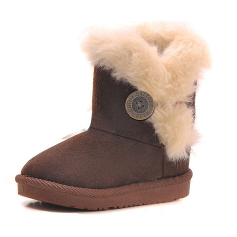 Brown toddlers snow boots
