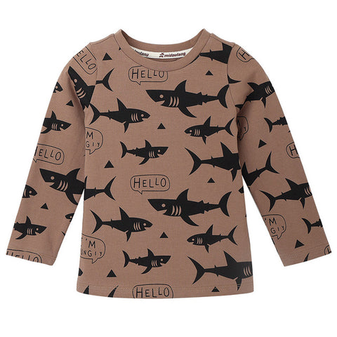 Swimming Sharks Girls Winter Top