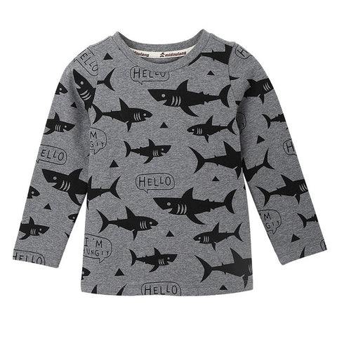 Image of Swimming Sharks Girls Winter Top