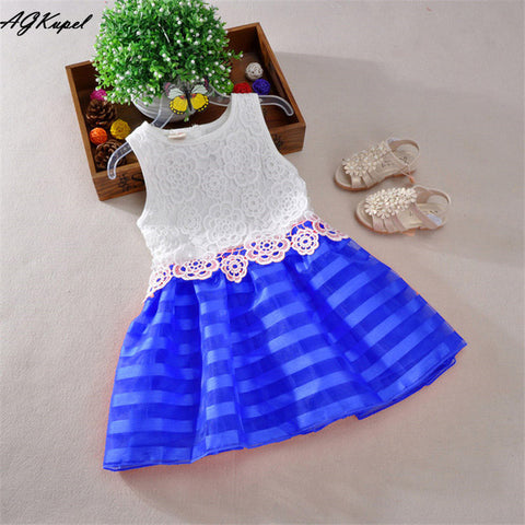 Image of Lace Designs Knee Length Baby Dress