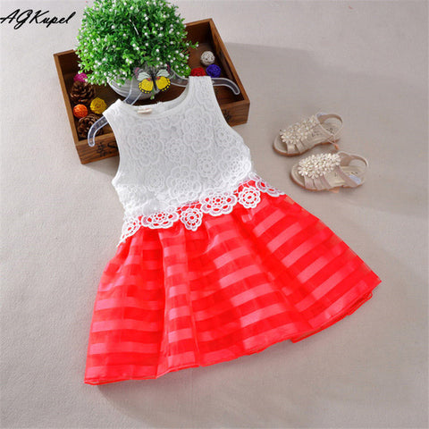 Lace Designs Knee Length Baby Dress