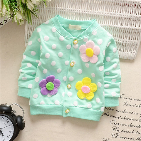 Image of Polka Dot Baby Girl Jacket
