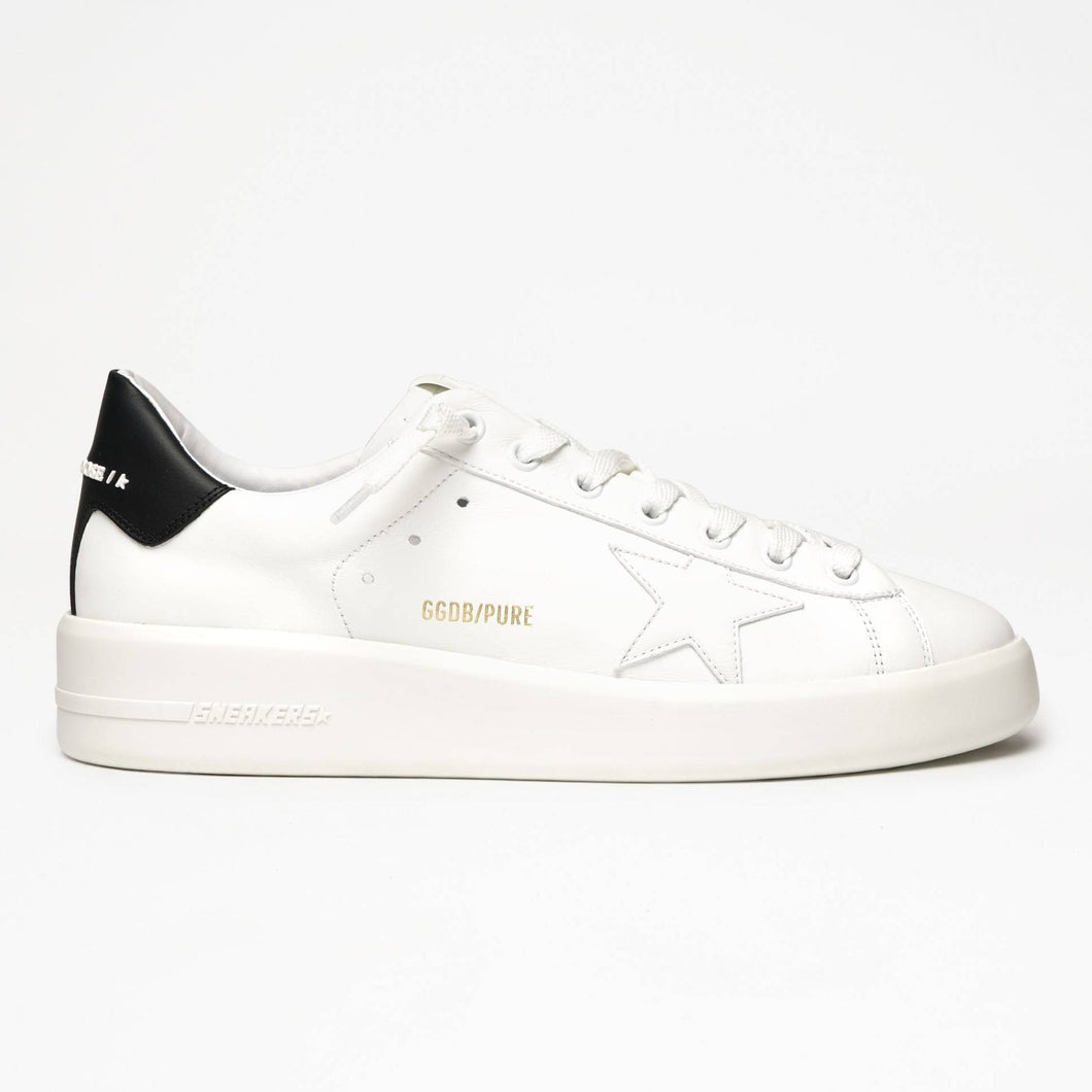 Golden Goose Pure Star White w/Black Heel