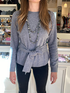 Minnie Rose Tie Waist Sweater