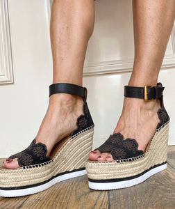 See by Chloé Eyelet Wedge Shoes