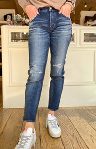 Moussy Blue Lancaster Repaired Jean