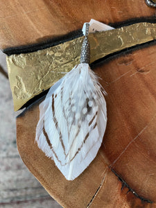 S. Carter Feather Pendant and Leather Cord