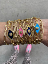 Load image into Gallery viewer, Suzy T Double Wrap Evil Eye Bracelet