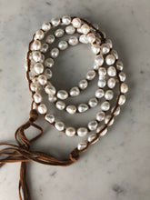Load image into Gallery viewer, Tess Medium Pearl Triple Wrap Necklace