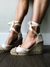 Castañer Catalina Ivory Fringe Toe Wedge