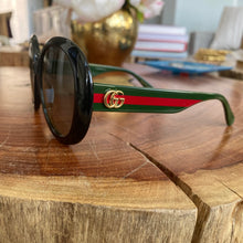 Load image into Gallery viewer, Gucci Round Logo Stripe Arm Sunglasses