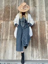 Caliban Plaid Flannel Dress w/Tie Belt