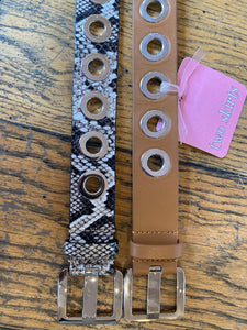 Veronica Beard Drex Grommet Belt