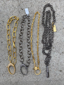 Evergreen Chains with Diamond Clasps