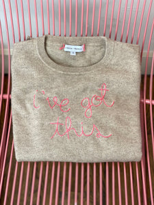 "Lingua Franca ""i've got this"" Sweater"