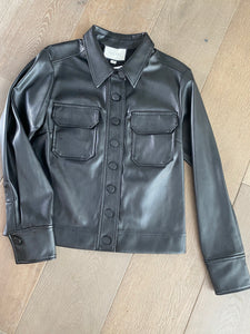 Alexis Merrin Faux Leather Shirt