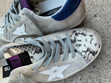 Golden Goose Superstar Gray Suede White Star Python Tongue