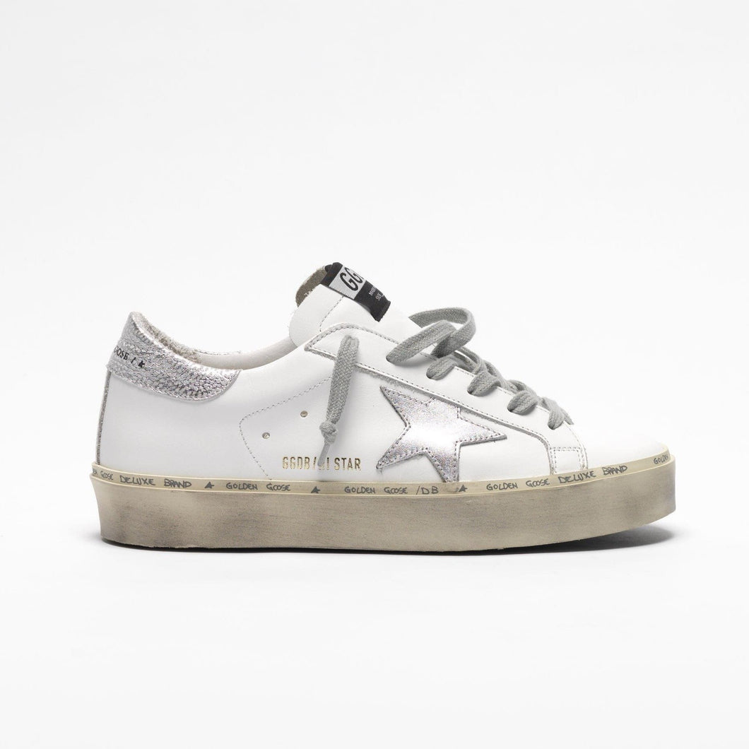 Golden Goose Hi Star White Silver Star