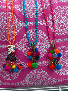 Nicole Schumann Pom Necklaces