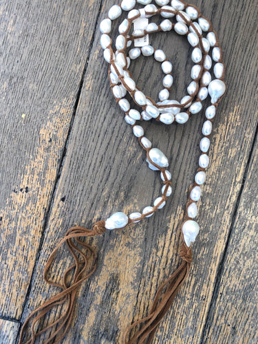 Tess Baroque Pearl Wrap Necklace
