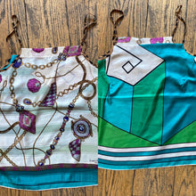 Aquarius Cocktail Vintage Scarf Tops