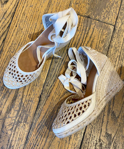 Castañer Crochet Toe Espadrille Wedge