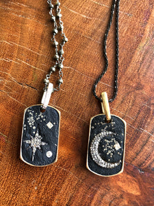 Miles McNeel Designs Star and Moon Dog Tags