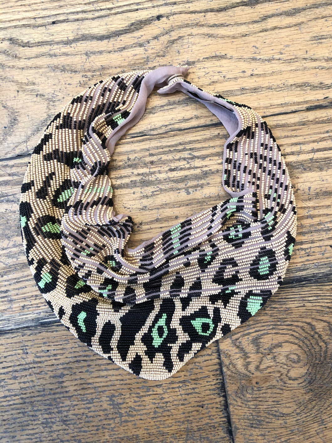 MG Leopard Le Charlotte Scarf Necklace