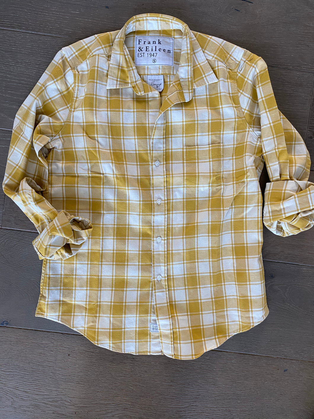 F&E Mustard Barry Flannel Shirt