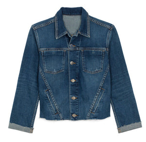 L'Agence Slim Raw Demin Jacket