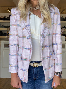 Hunter Bell Pink Tweed Blazer