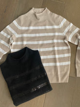 W+W Sequin Stripe Funnel Neck