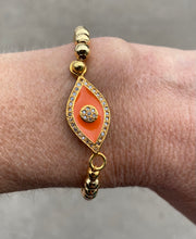 Load image into Gallery viewer, Suzy T Evil Eye Bracelet