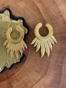 Gas Bijoux Gold Feather Earring