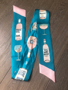 CJW Rosé all Day Twilly Scarf