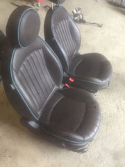 07-13 MINI COOPER S HIGHGATE R57 DARK TRUFFLE BROWN FRONT REAR LEATHER SEATS - thesalvageguysonline