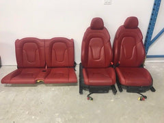 08 09 10 11 12 13 14 15 Audi TT QUATTRO RED LEATHER FRONT REAR SEATS DOOR PANELS - thesalvageguysonline