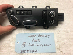 06 07 08 Bentley Continental Flying Spur GT RIGHT POWER SEAT SWITCH 3W5959766D