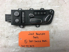 06 07 08 Bentley Continental Flying Spur GT LEFT POWER SEAT SWITCH 3W5959765B