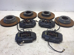 99+ Porsche 996 997 911 COMPLETE OEM BREMBO BRAKE CALIPERS ROTOR PADS HARDWARE - thesalvageguysonline