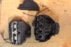 07 08 KAWASAKI ZX6R ZX636 COMPLETE FUEL INJECTION THROTTLE BODIES AIR BOX FILTER - thesalvageguysonline