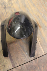 07 08 DUCATI 1098 S 1098S OEM FRONT CARBON FIBER TIRE FENDER MUD GUARD FAIRING - thesalvageguysonline