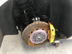 10-15 FERRARI 458 ITALIA RIGHT REAR SUSPENSION KNUCKLE KNEE AXLE SHOCK ARMS - thesalvageguysonline