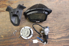 07 DUCATI 1098 S GAUGE CLUSTER SPEEDOMETER TACH + IGNITION KEY SET - 4000 MILES - thesalvageguysonline